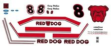 #8 Kenny Wallace Red Dog Beer 1/43rd Scale Slot Car  Decals