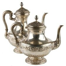 SPANISH SILVER TEAPOT & COFFEE POT MARKED D. GARCIA