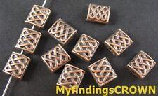 50 Pcs Antiqued copper knot square spacer beads FC255C
