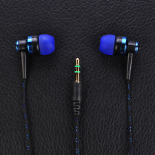 Hot Fashion Weave Rope Earphone Stereo In-Ear Wired Colorful Headphone Headset
