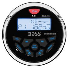 BOSS Audio Systems MGR350B Bluetooth Enabled In Dash Marine Gauge AM/FM Receiver