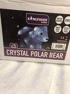 LED Crystal Polar Bear Festive Light Battery Powered