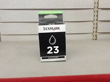 NEW Lexmark #23 Black Ink Cartridge GENUINE New Sealed Box