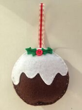 FANTASTIC Hand-crafted CHRISTMAS PUDDING hanging decoration