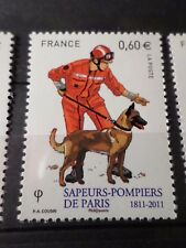 FRANCE 2011, timbre 4585 SAPEURS-POMPIERS, CHIEN, DOG, neuf**, MNH FIREMAN