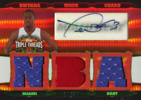 Dwyane Wade Autographed 2007 Topps Triple Threads Jersey Relic Card