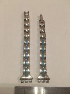 126 Swatch 12mm Ladies Small watch strap Steel 'Blue Glaze'