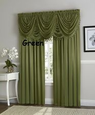 Hyatt luxury Window Curtain, Royal Velvet, complete 9 pc set -4 panel 5 valance