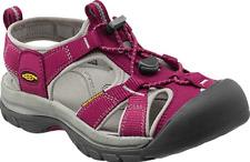 KEEN Venice H2 Ladies Waterproof Walking Sandals Slip on Lace Uk7 Beet Red/neutral Gray