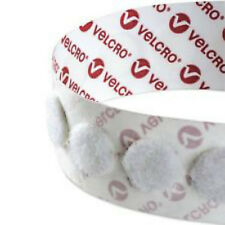 VELCRO® brand 13mm Dots WHITE Self Adhesive Sticky Coins Hook (50) Loop (50)