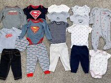 CARTER'S Baby Boy Clothing Size 6-9 Months Lot Of 17 Pieces Bodysuits & Pants