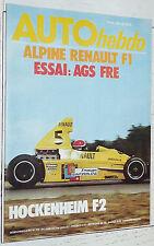 AUTO HEBDO N°19 1976 RALLYE BASQUE ALPINE RENAULT AGS JH14 SUEDE F1 LE MANS F2