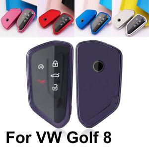 Soft TPU Car Remote Key Case Cover Holder Fob Fit VW Golf 8 Seat Skoda Leon 4