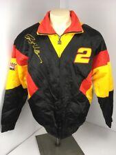 Vintage Mens M Nutmeg NASCAR Rusty Wallace Penske Stitched Black Yellow Jacket