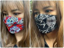 Face Mask Cotton Fabric with Elastics, Mask for Glasses Wearers & Small Beard