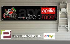 Aprilia RSV4 fw-gp #be a racer Banner for Workshop, Garage, Man cave, 1300 x 325