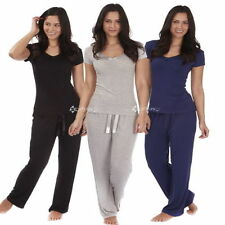 Viscose Patternless Pyjama Sets for Women