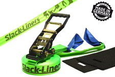 Slackline SET COMPLETO 4 pezzi - 50mm-larga lungo 25m Verde-Made in Germany