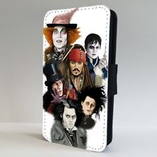 Johnny Depp Faces Characters FLIP PHONE CASE COVER for IPHONE SAMSUNG