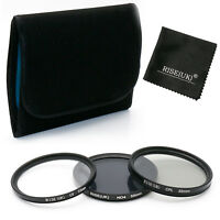 55mm UV CPL Polarizing ND4 Neutral Density Fiter Set Kit for Nikon Canon Camera