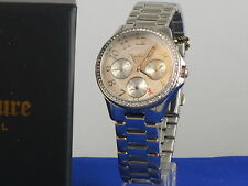 Juicy Couture Stainless Steel GWEN Crystal Accent Multi Function Watch $275