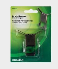 HILLMAN AnchorWire 1 lb Brass Brick Picture Mirror Wreath Hanger Hook 2pk 122354