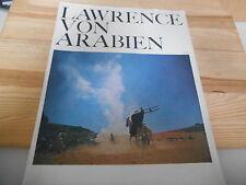 Sach Film David Lean's Lawrence von Arabien Programm-Heft (28 pg) COLUMBIA PICT