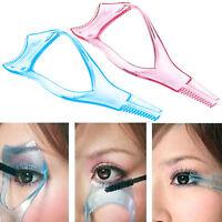 3in1 Applicatore mascara guida pettine mascherina ciglia occhio trucco make up