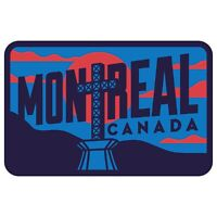 Montreal Quebec Canada Weatherproof Travel Sticker -Mont Royal Mountain Cross
