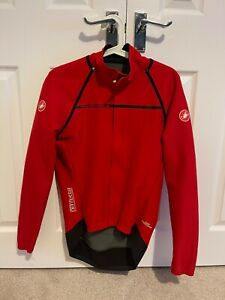 Castelli Perfetto Rosso Corsa Mens Convertible Jacket Size Large Red