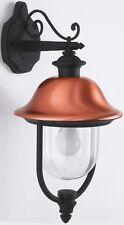 TYRELL APPLIQUE LAMPADA LANTERNA DA PARETE ESTERNA IN ALLUMINIO NERO-RAME 40 W