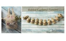 Primitive Folk Art Rabbit Bunny Doll Garland Country Pattern