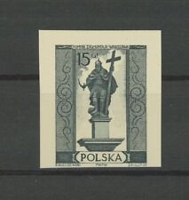 POLAND OFFICIAL BLACK PRINT 1958 CARDBOARD IMPERF RARE!! MONUMENT KING h2563