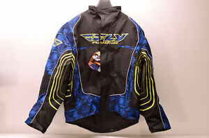 Fly Racing 470-2161X Jacket Blue/Black/Yellow Xl X-Large NOS