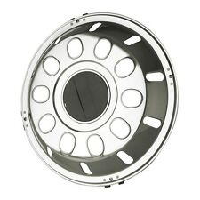 """Pair of 22.5"""" Ruspa Vinci stainless steel front wheel trims hub caps"""