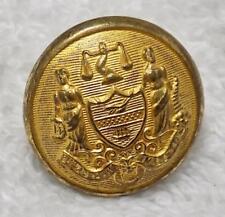 """Antique Philadelphia Police Button JR Gaunt & Sons 1902-1917 7/8"""""""