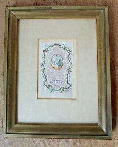 Heiligenbild Biedermeier Miniatur Knöppelarbeit Gouache Tuschzeichnung antik