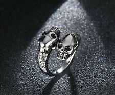 Cool Men's Stainless Boy Biker Finger Ring Jewelry Steel Gothic Punk Skull Head