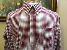 Southern Tide Skipjack Longsleeve Button Front Shirt Mens Large Red White