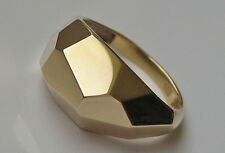 Designer ☆ Schmuck in aus 14kt 585 Gold Ring gross Muster wow Effekt Gelbgold ☆