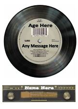 Vinyl Record Radio Front Personalised Edible Icing Cake Topper 7.5in Free P+P