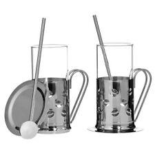 Bean Irish Coffee Set 2 Coffee Mugs, Stirrers & Coasters Heat Resistant Glass