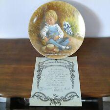 "Reco International Mother Goose Plate #2 ~ ""Little Boy Blue"" ~ 15623F ~ Mib"