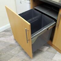 2 Contenitori della Spazzatura per Riciclo 90 Litri Capacità Max 25kg per Cucina
