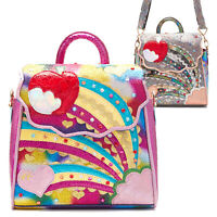 Irregular Choice Rainbow Splash Glitter Heart Unique Handbag Satchel Backpack