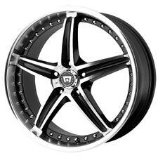 "4-Motegi MR107 16x7 5x4.5"" +45mm Black/Machined Wheels Rims 16"" Inch"