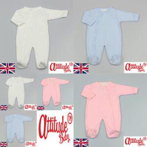 Baby Sleepsuit-Romper Suit-Long Sleeve-Baby Boy-Baby Girl-Plain Soft Cotton-Suit