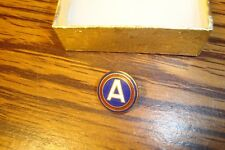 ARMY: 3rd Army Division Lapel Pin-Button Brooch W/Safety Clasp CAPTAIN AMERICA