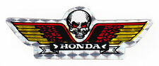 Calavera Y Alas Honda Motos Pegatina Lámina Metálica