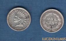 Etats Unis – One Cent 1859 Argenté TTB Indien Oak Wreath with shield – United St